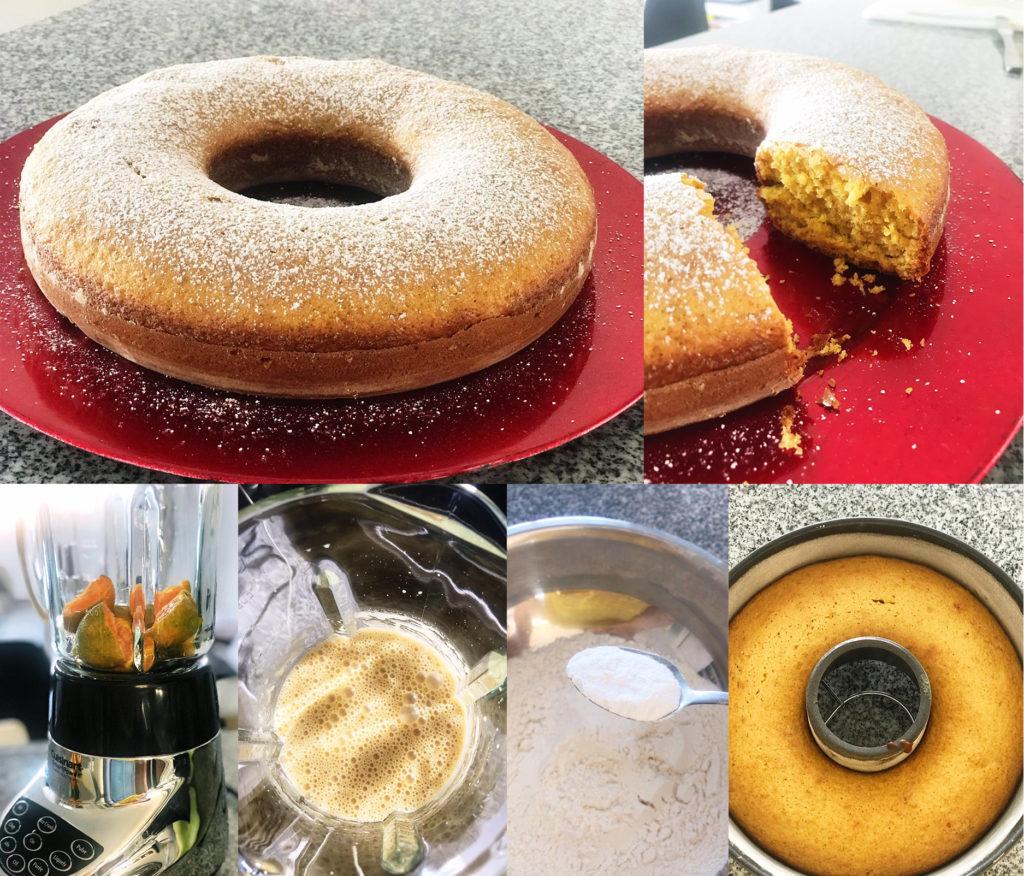 Preparación Cake Mandarina